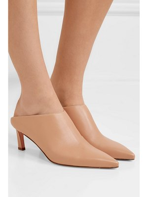Stuart Weitzman mira leather mules