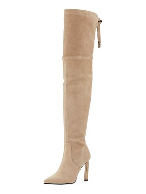 Stuart Weitzman Natalia 100mm Suede Over-The-Knee Boots