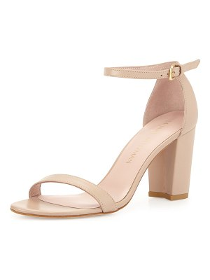 Stuart Weitzman Nearlynude Leather City Sandals