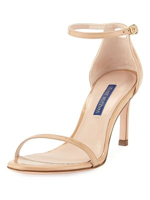 Stuart Weitzman Nudist 80 Patent Leather Naked Sandals