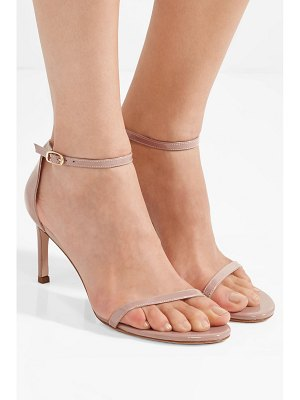 Stuart Weitzman nudist patent-leather sandals