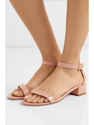 Stuart Weitzman nudistjune patent textured-leather sandals