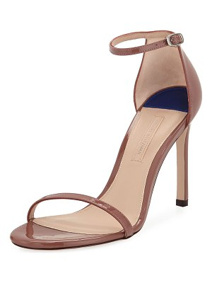 Stuart Weitzman Nudistsong Patent Strappy Sandals
