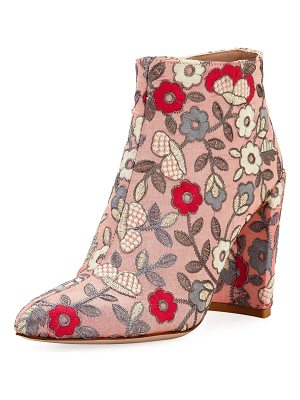 Stuart Weitzman Pure Embroidered 90mm Booties