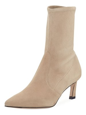 Stuart Weitzman Rapture Suede Sock Booties