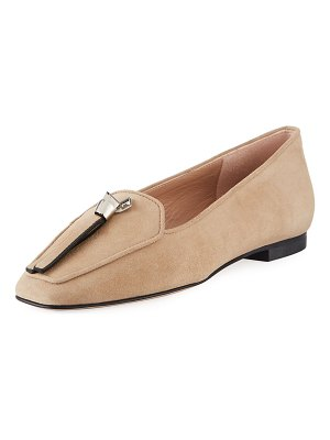 Stuart Weitzman Slipknot Easy Flat Suede Loafers