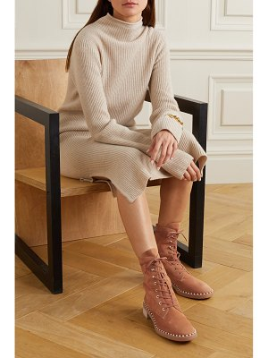 Stuart Weitzman sondra faux pearl-embellished suede ankle boots