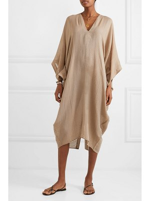 SU PARIS bahia striped cotton-gauze kaftan
