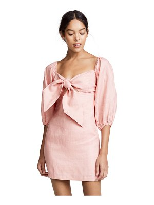 Suboo pink sands tie front mini dress