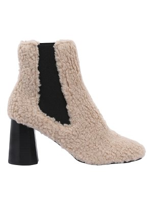 SUECOMMA BONNIE 80mm furry faux shearling ankle boots