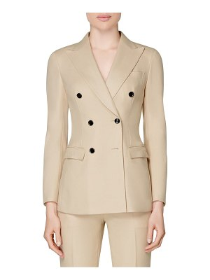 SUISTUDIO cameron double breasted wool suit jacket