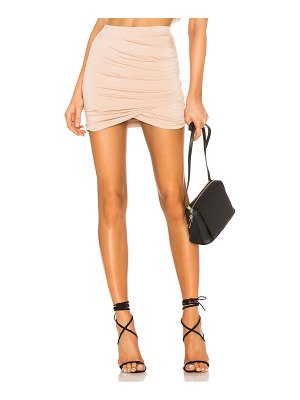 superdown arden ruched mini skirt