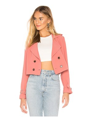 superdown ariel crop trench coat
