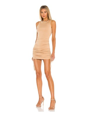 superdown cory ruched side dress