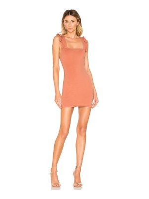 superdown imari ruffle strap dress
