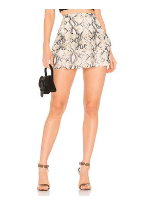 superdown Janelle Tiered Mini Skirt