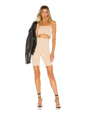 superdown kristin strapless romper