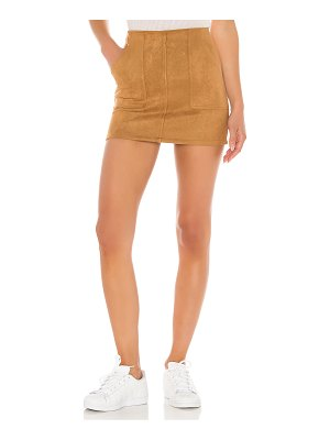 superdown layla suede mini skirt