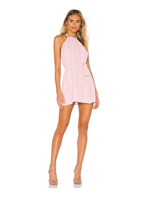 superdown lillian halter mini dress