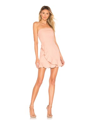 superdown rosie strapless ruffle dress