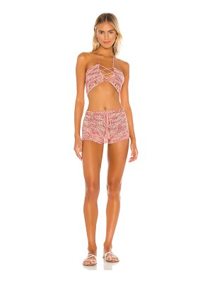 superdown tawnie crochet short set