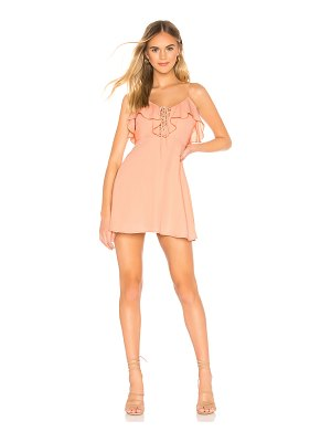 superdown whitney ruffle lace up dress