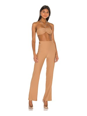 superdown x draya michele paris halter pant set