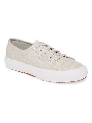 Superga 2750 synt crocodile embossed sneaker