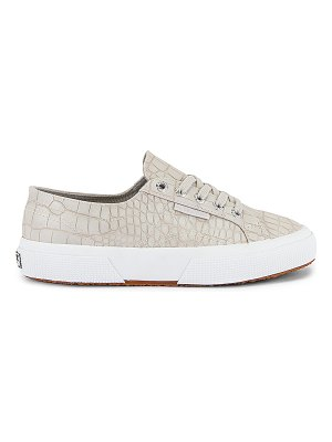Superga 2750 synthetic crocodile sneaker