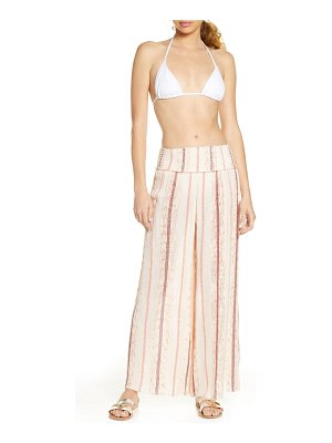 Surf Gypsy leno stripe cover-up pants
