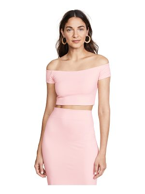 Susana Monaco off shoulder crop top