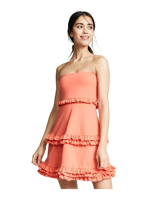 Susana Monaco strapless tiered dress