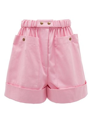 Symonds Pearmain high-rise cotton shorts