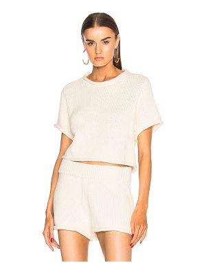 T BY ALEXANDER WANG Cropped Short Sleeve Sweater