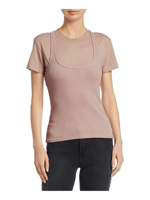 T by Alexander Wang double layer ribbed tank shirt