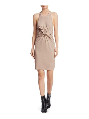 T by Alexander Wang high twist jersey halter dress