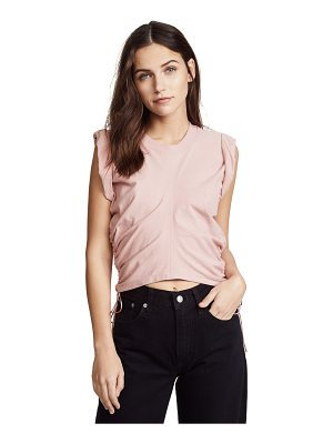 T BY ALEXANDER WANG Jersey Crop Top With Side Ties