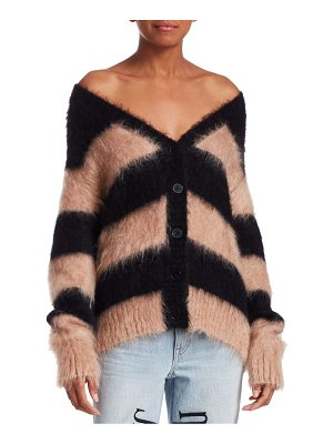 T by Alexander Wang mohair-blend striped cardigan