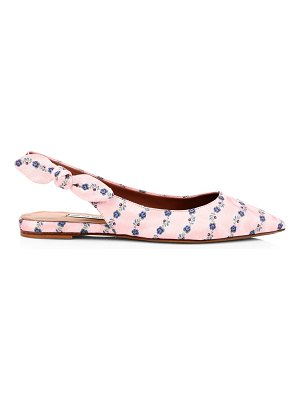 Tabitha Simmons floral point-toe slingback flats