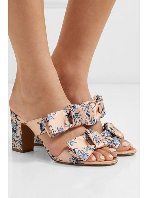 Tabitha Simmons johanna ortiz barbi bow-embellished floral-print satin mules