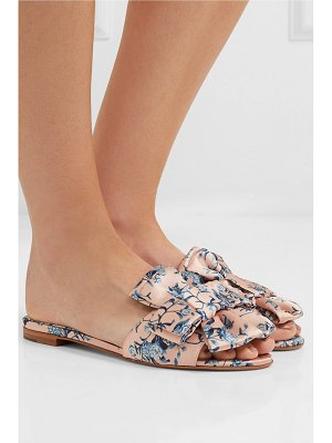 Tabitha Simmons johanna ortiz camilla bow-embellished floral-print satin slides