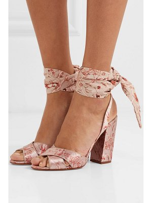 Tabitha Simmons johanna ortiz connie printed silk-satin and crepe de chine sandals