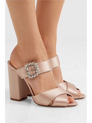 Tabitha Simmons reyner embellished satin sandals