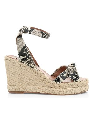 Tabitha Simmons ross snakeskin-embossed leather wedge espadrilles