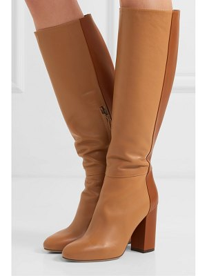 Tabitha Simmons sophie two-tone leather knee boots