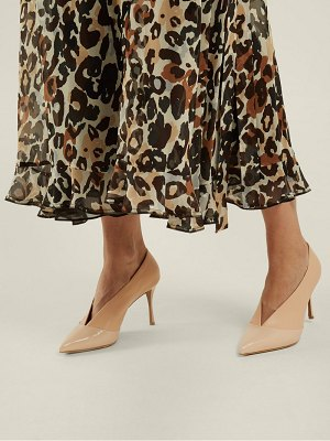 Tabitha Simmons Strike Pointed Toe Leather Pumps
