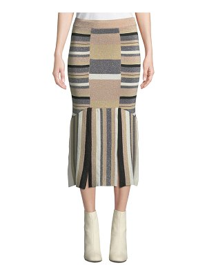 Tabula Rasa Rosetti Striped Metallic Midi Skirt