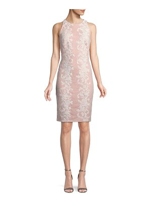 Tadashi Shoji Sleeveless Lace Applique Sheath Dress