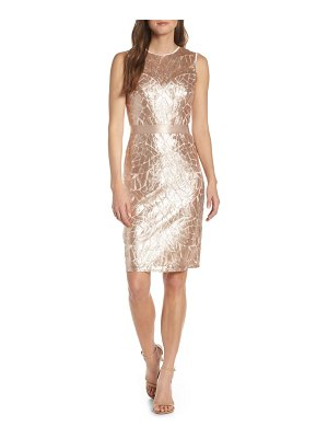 Tadashi Shoji sugg sleeveless sequin sheath dress