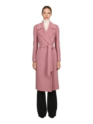 TAGLIATORE 0205 Belted wool & cashmere long coat